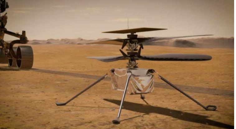 طائرة ناسا الهليكوبتر تصنع التاريخ برحلة ناجحة على سطح المريخ
