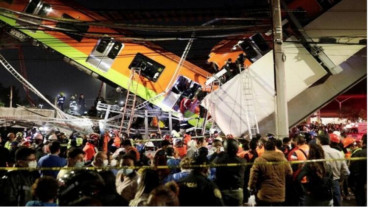 عشرات القتلى والجرحى في انهيار جسر بالمكسيك