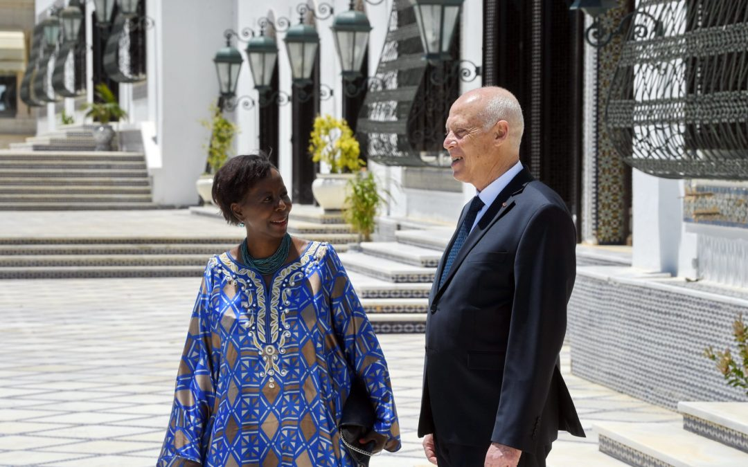 لقاء رئيس الجمهورية مع الأمينة العامة للفرنكوفونيّة